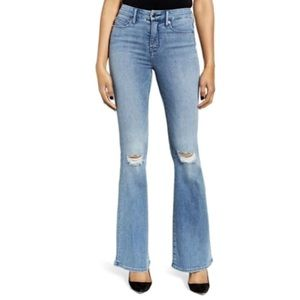 GOOD AMERICAN Good Legs High Rise Flare Jeans!